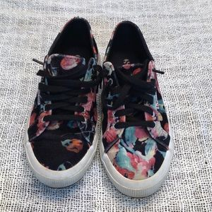 Superga floral sneakers crushed velvet 8